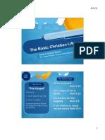 The Basic Christian Life