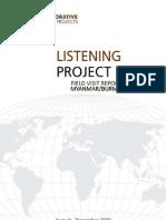 Listening Project Report - Myanmar