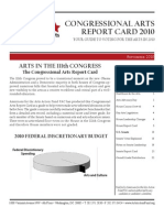 Congressional Arts Reports Card 2010