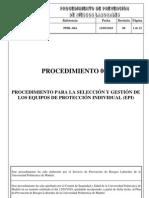 Propuesta Procedimiento Gestion y Seleccion de EPI
