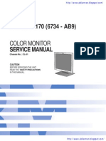 IBM Think Vision L170 Srvice Manual