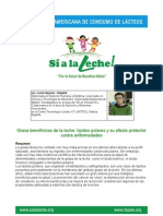 GRASA BENEFICIOSA DE LA LECHE (LÍPIDOS POLARES Y SU EFECTO PROTECTOR CONTRA ENFERMEDADES)