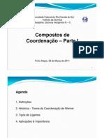 Compostos de Cordenacao I