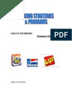 Pricing Strategies and Proograms