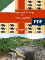 underground storage in rock caverns