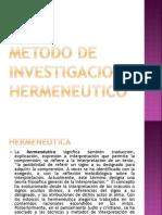 Metodo de Investigacion Hermeneutico