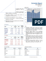 Derivatives Report 6th September 2011