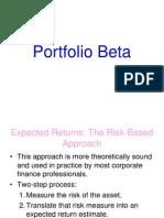 Portfoilo Beta