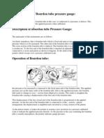 Basic Principle of Bourdon Tube Pressure Gauge