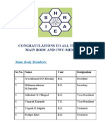 Ishrae Members Designation 2011-12