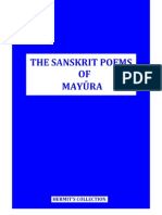 The Sanskrit Poems of Mayura - Surya Shatak & Other Poems