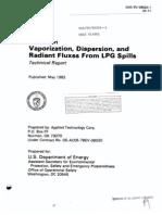 Vaporization, Dispersion, And Flux LPG