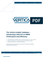 Vertica New Era in Dbms Performance