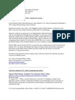 AFRICOM Related News Clips 1 September 2011