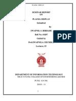 Plasma Seminar Report