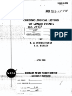 Nasa Technical Report Nasa Tr R-277 Chronological Catalog of Reported Lunar Events From 1540 to 1966