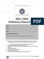 Proficiency Theory Paper 2011 2012