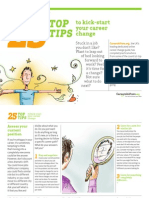 25 top tips for career change