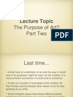 The Purpose of Art - Part Two