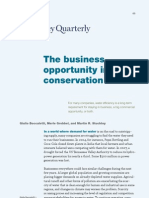 The Business Opportunity in Water Conservation