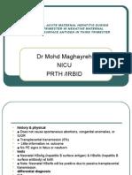 Hepatitis b, Acute Maternal Hepatitis During