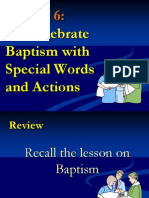 G2 Lesson 6-We Celebate Baptism with Special Words and Action