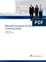 Dynamics AX 2012 Licensing Guide-CustomerEdition