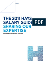 Hays Salary Guide 2011-SG Sale