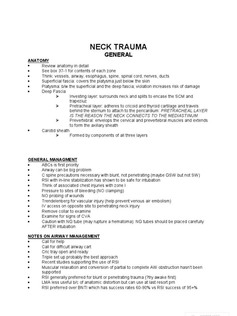 37 neck trauma neck major trauma fandeluxe Images
