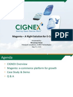 Magento - A Right Solution for E-Commerce - Webinar-Slideshare-CIGNEX