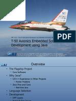 T-50 Avionics Embedded Software Development Using Java