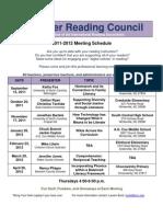 Tar River 2011-2012 Meeting Schedule Flyer