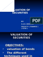 Valuation of Bonds & Equity