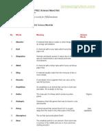 James Ang's Really Useful PSLE Science Word-List