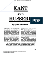 Kant and Husserl Paul Ricoeur