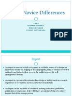 Expert Novice Differences(1)
