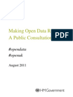 Open Data Consultation August 2011
