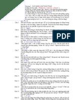 Bài tập tự luận chương Các định luật bảo toàn