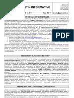 Boletin informativo Septiembre 2011