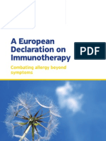 European Declaration on Allergen Immunotherapy