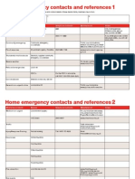 Home Emergency Contacts