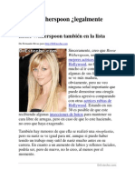 La cara perfecta | Reese Witherspoon