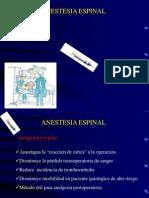 3. Anestesia Raquidea (Espinal) - Dra Charca