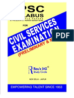 UPSC Civil Services Exam Syllabus