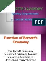 Barretts Taxonomy
