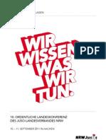 """Anträge im Bereich """"Freiheitsrechte / Digitales Leben"""" zur Landeskonferenz 2011 der NRWJusos"""