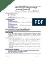 UT Dallas Syllabus for ee4301.001.11f taught by Ricardo Saad (rsaad)