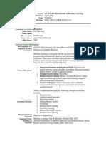 UT Dallas Syllabus for cs4375.001.11f taught by Yu Chung Ng (ycn041000)