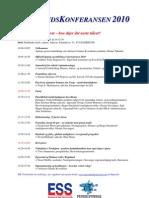 Egersundskonferansen 2010 - Program og iInnlederpresentasjon