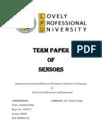 40612676 Sensors Term Paper
